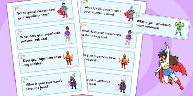 My Superhero Challenge Cards - superhero, challenge cards, cards