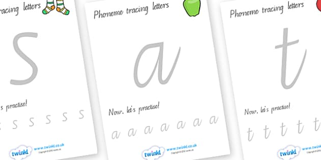 Phoneme Tracing Sheets Pictures - phoneme, tracing, trace, game