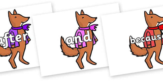 Connectives on Small Fox 4 to Support Teaching on Fantastic Mr Fox - Connectives, VCOP, connective resources, connectives display words, connective displays