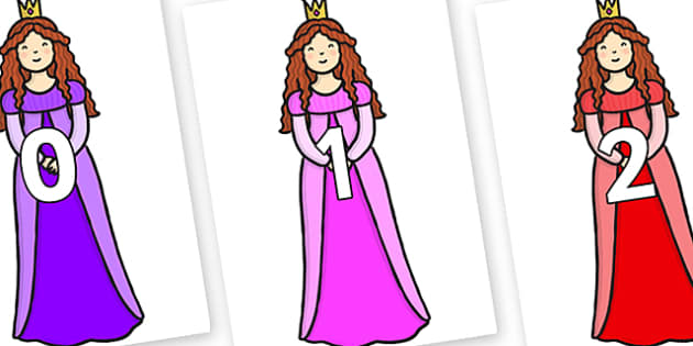 Numbers 0-31 on Sleeping Beauty - 0-31, foundation stage numeracy, Number recognition, Number flashcards, counting, number frieze, Display numbers, number posters