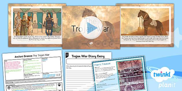 PlanIt - History KS2 - Ancient Greece Lesson 6: The Trojan War Lesson Pack