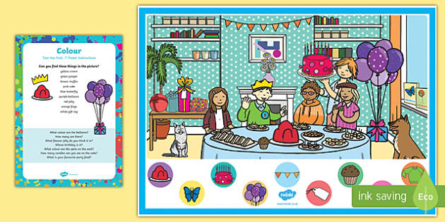 Colour Themed Can you Find...? Poster and Prompt Card Pack