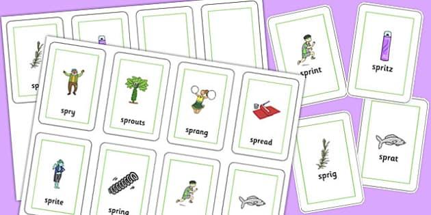 SPR Flash Cards - sen, sound, spr sound, spr, flash cards, flash, cards