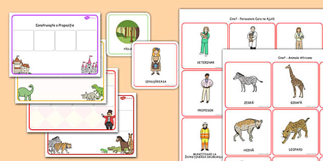 Costruim Propozitii folosind Imagini - dezvoltarea vorbirii