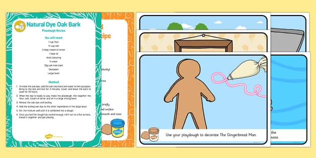 EYFS The Gingerbread Man Playdough Recipe and Mat Pack - The Gingerbread Man, Traditional Tales, playdough, playdough mats, ginger, gingerbread