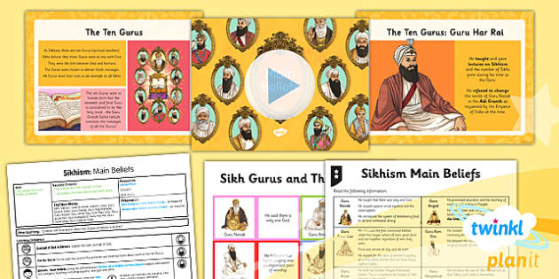 PlanIt - RE Year 3 - Sikhism Lesson 2: Main Beliefs Lesson Pack - Ten Gurus, Guru Granth Sahib, Guru Nanak, Religion, Equality