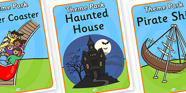 Theme Park Role Play Posters - theme park, role play, posters, theme park posters, role play posters, theme park role play, poster for theme park
