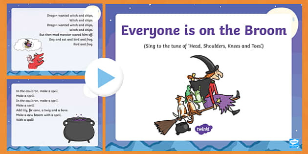 Everyone is on the Broom Song PowerPoint