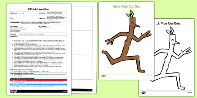 Pass the Stick Circle Game EYFS Adult Input Plan and Resource Pack - pass, stick, circle game, eyfs
