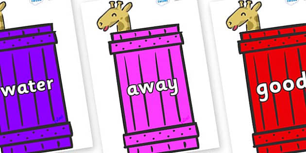 Next 200 Common Words on Giraffes (Crate) to Support Teaching on Dear Zoo - Next 200 Common Words on  - DfES Letters and Sounds, Letters and Sounds, Letters and sounds words, Common words, 200 common words