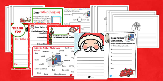 Letter to Father Christmas Resource Pack - letter, father christmas, resource, pack