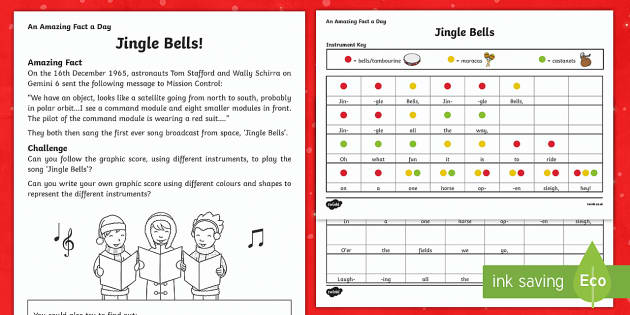Jingle Bells Activity Sheet - Amazing Fact Of The Day, activity sheets, PowerPoint, starter, morning activity, December, Christmas