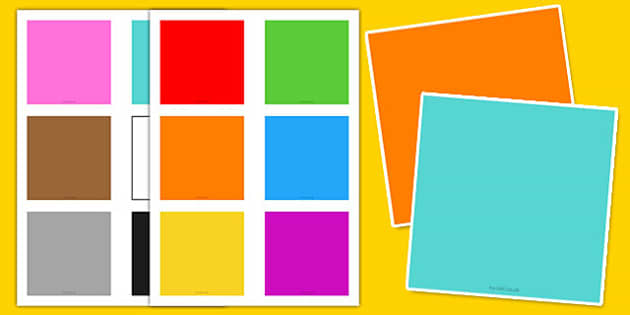 Blank Colour Flashcards - blank, colour, flashcards, flash cards