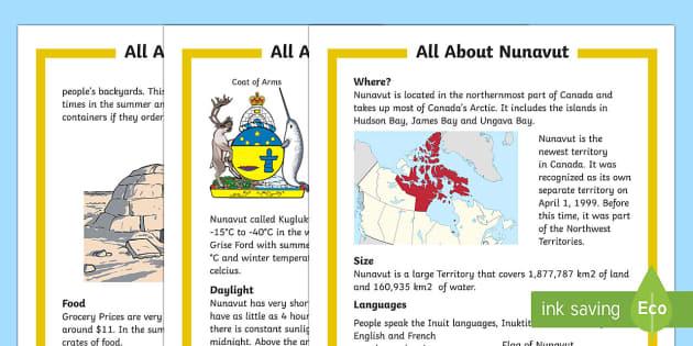 Nunavut Fact File
