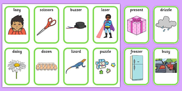 Medial 'z' Playing Cards - speech sounds, phonology, articulation, ,speech therapy, dyspraxia