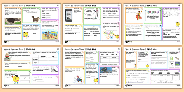 Year 4 Summer Term 2 SPaG Activity Mats