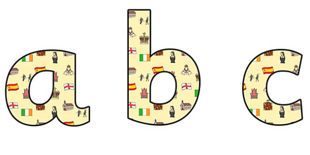Elizabeth I Themed A4 Display Lettering Lowercase - elizabeth I, elizabeth 1st, display lettering, themed lettering, classroom lettering, lettering, a4