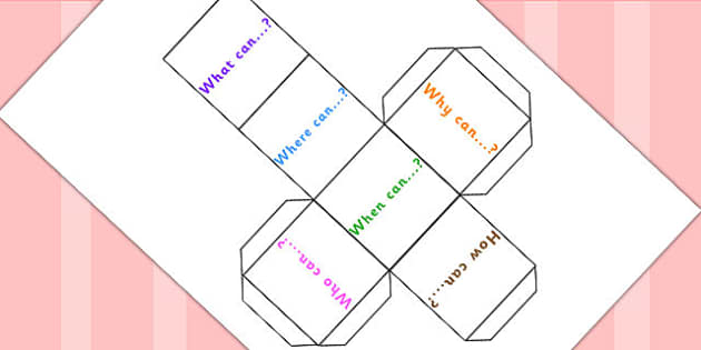 Possibility Prompt Question Dice Net - numeracy, math, probability, dice net