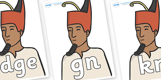Silent Letters on Egyptian Kings - Silent Letters, silent letter, letter blend, consonant, consonants, digraph, trigraph, A-Z letters, literacy, alphabet, letters, alternative sounds