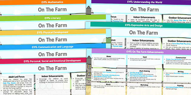 EYFS Farm Themed Lesson Plan And Enhancement Ideas - farm, lesson plan, EYFS, ideas