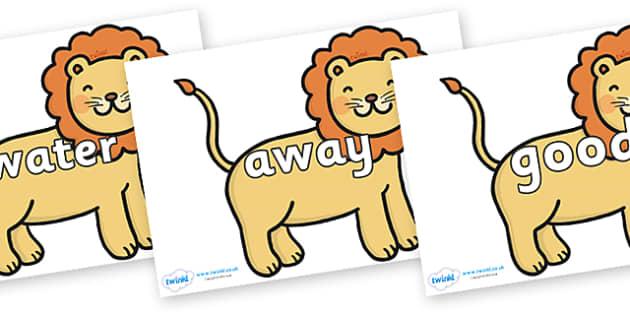 Next 200 Common Words on Lions - Next 200 Common Words on  - DfES Letters and Sounds, Letters and Sounds, Letters and sounds words, Common words, 200 common words