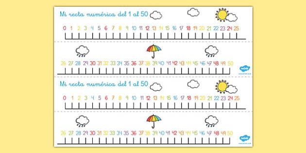 Recta numérica - El tiempo y las estaciones del año