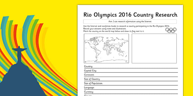 Rio 2016 Olympics Country Factfile - rio olympics, 2016 olympics, country, factfile, fact file