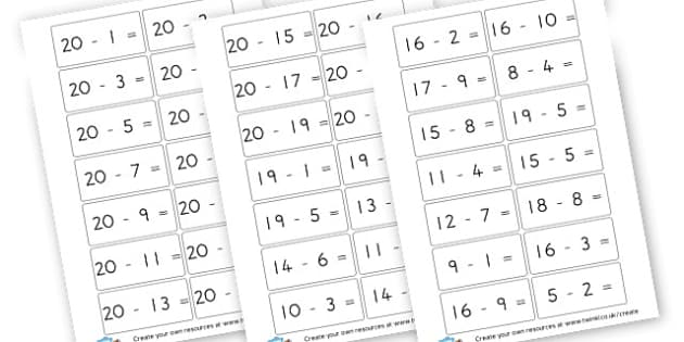 Subtraction Number Sentences to 30 - Subtraction Primary Resources, minus, less, activities, calculate