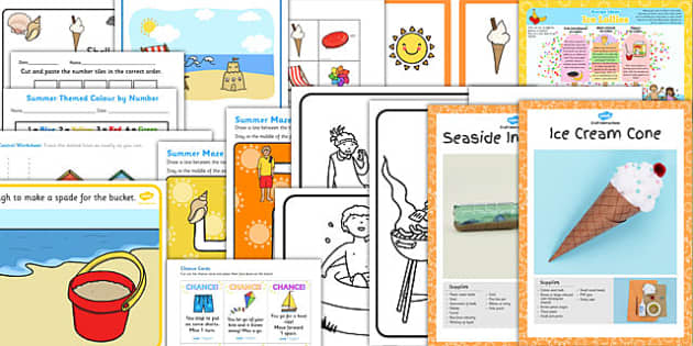 EYFS Summer Holiday Activity Pack - summer, holiday, activity