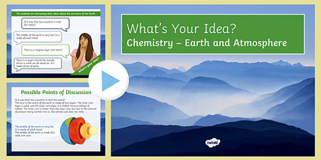 KS3 Earth and Atmosphere What's Your Idea? PowerPoint
