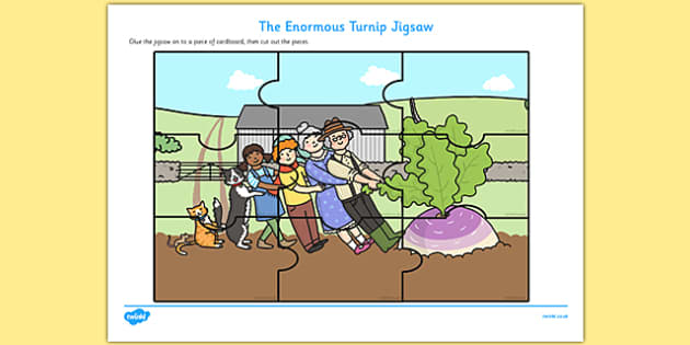 The Enormous Turnip Jigsaw Puzzle - enormous turnip, jigsaw, puzzle, activity