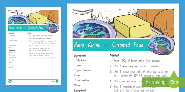 Creamed Paua Recipe