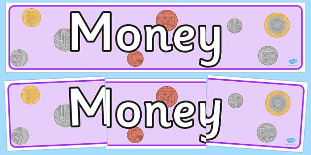 Money Display Banner - displays, banners, measure, visual aid
