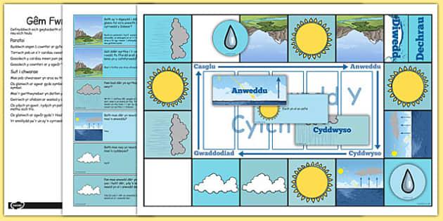 Gêm Fwrdd Y Cylch Dŵr - welsh, cymraeg, cylch dwr, gém, fwrdd, cylch, dwr