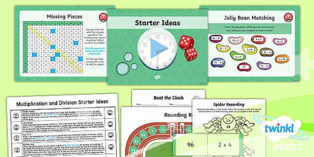 PlanIt Y4 Multiplication and Division Starter Ideas Pack