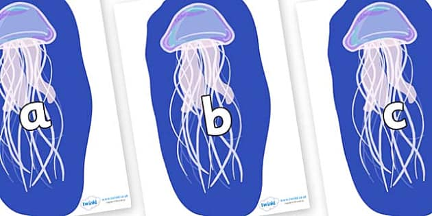 Phase 2 Phonemes on Jellyfish - Phonemes, phoneme, Phase 2, Phase two, Foundation, Literacy, Letters and Sounds, DfES, display