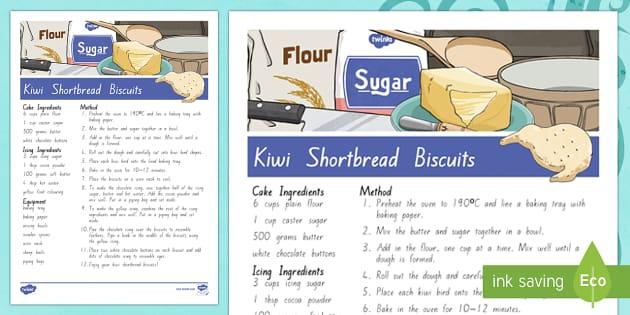 Treaty Treats Kiwi Shortbread Biscuits Recipe - Waitangi Day, Treaty of Waitangi, tiriti o waitangi, kiwi, kiwiana, recipes