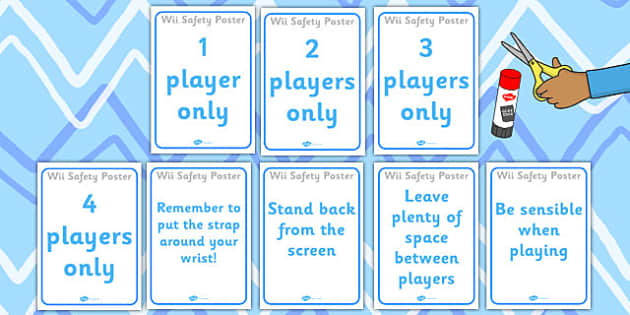 Wii Safety Posters - wii, safety, posters, display, games console