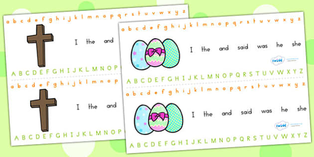 Easter Alphabet Strips - easter, alphabet, a-z, visual aid, RE