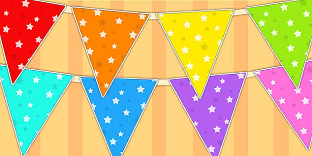 Star Pattern Display Bunting - star, bunting, flags, display