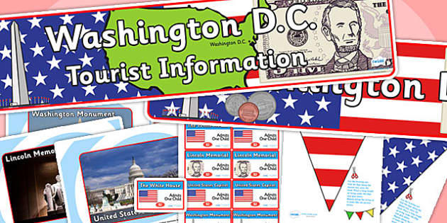 Washington DC Tourist Information Office Role Play Pack-washington DC, tourist information, tourist, role play, role play pack, tourist pack