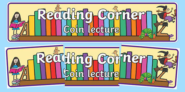 Reading Corner Display Banner English French French-Translation-French-translation