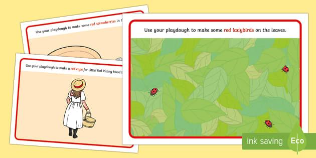 Red-Themed Playdough Mats