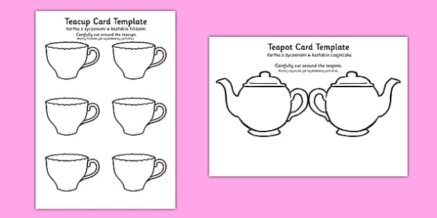 Teapot Mother's Day Card Blank Polish Translation - polish, mothers day, card, blank, teapot