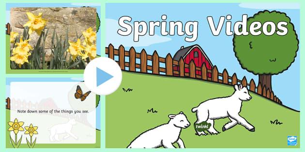 Spring Video PowerPoint - spring, spring powerpoint, spring video, powerpoint videos of spring, spring interactive powerpoint, powerpoint, video powerpoint