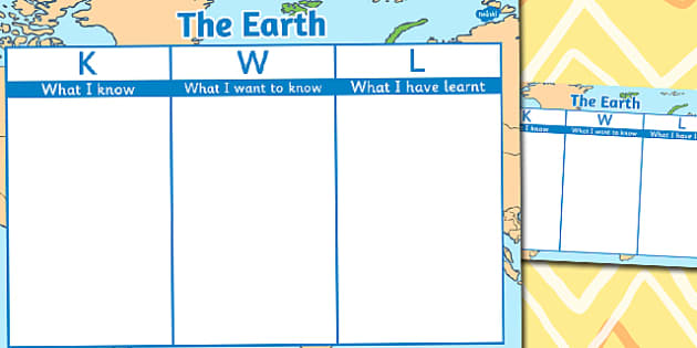 The Earth Topic KWL Grid - KWL, Know, Want, Learn, Earth, Grid