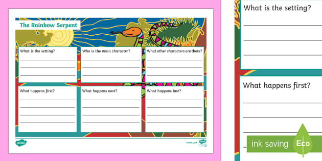 The Rainbow Serpent Book Review Writing Activity Sheet