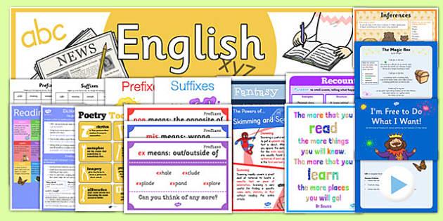 LKS2 English Display Pack - lks2, english, display pack, display