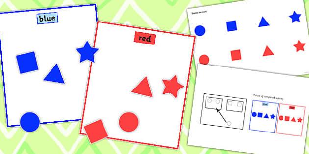 Colour Sorting Activity Set 1 - colour, sorting, activity, set, 1