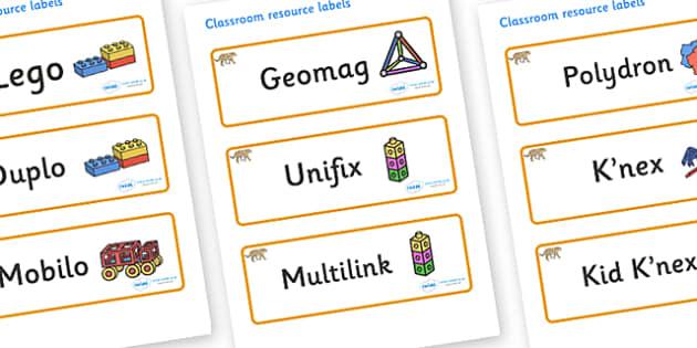 Leopard Themed Editable Construction Area Resource Labels - Themed Construction resource labels, Label template, Resource Label, Name Labels, Editable Labels, Drawer Labels, KS1 Labels, Foundation Labels, Foundation Stage Labels